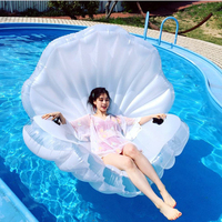 2019 inflatable white seashells Pool Float floating Swimming Ring Air Mattress holiday beach chair party Toy for child adult