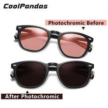 Moda akıllı fotokromik güneş gözlüğü kadınlar polarize sürüş güneş gözlüğü erkekler gafas de sol mujer lunette de soleil femme