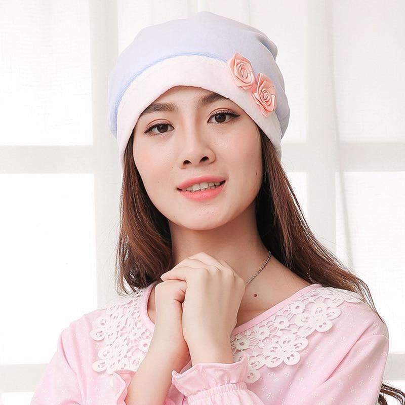 New hot fashion polka dot bow head wind proof cap cap confined cap maternal pregnant women baby cap