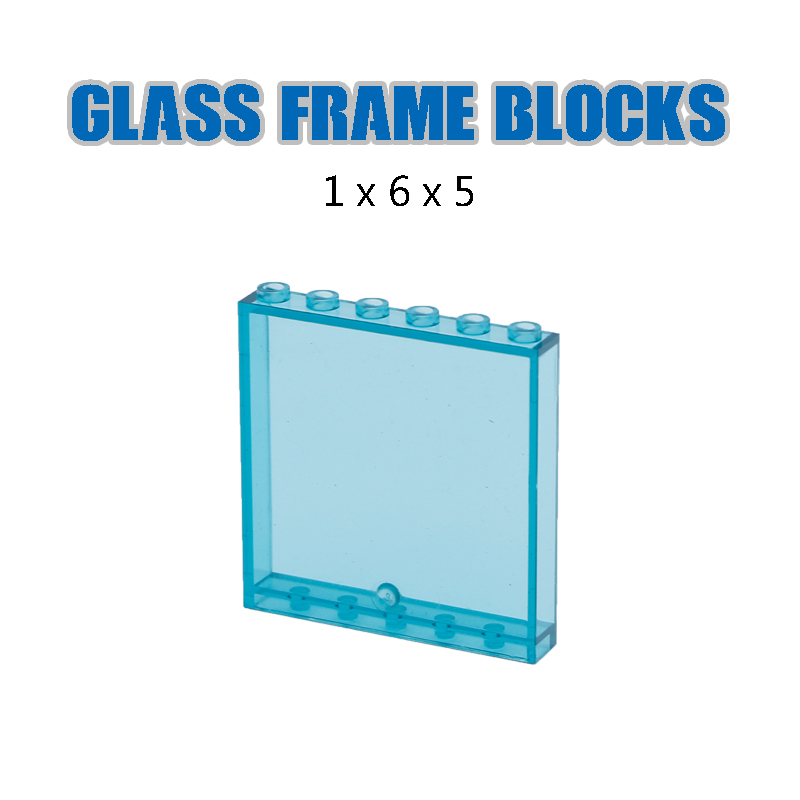 Image 3 - LegoINGlys City Building Blocks Window Frame Transparent Panel Wall House Parts Street View Friends Accessories MOC Bricks Toys-in Blocks from Toys & Hobbies