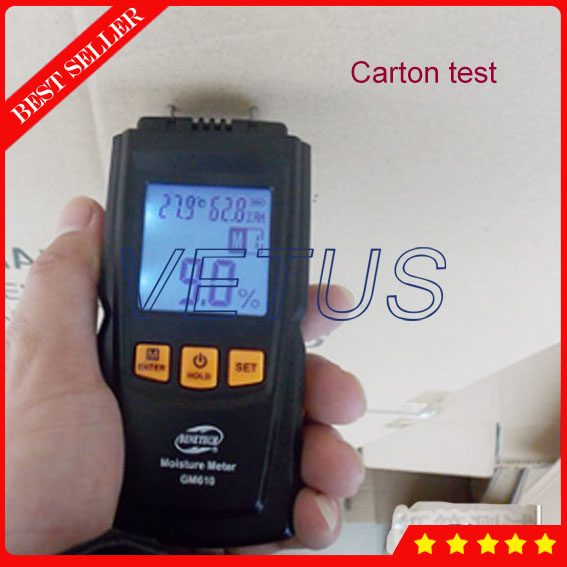 GM610 Handheld Digital Wood Moisture Tester with LCD Display