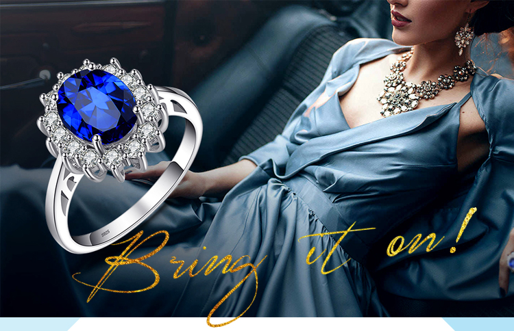 HTB1oB sX1H2gK0jSZJnq6yT1FXaC JewelryPalace Created Blue Sapphire Ring Princess Crown Halo Engagement Wedding Rings 925 Sterling Silver Rings For Women 2019