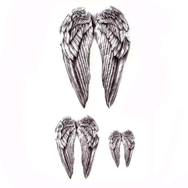 20pcs Angel Wings Waterproof Temporary Tattoos Men Harajuku Maquagem