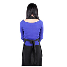 ABWE Hot Professional Anti-static Salon Apron Hairdressing Cape Hair Dyeing Salon Gown Black