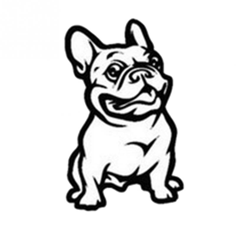 LOVELY CUTE French Bulldog Dog Car Sticker PET Cars Decal Weatherproof Auto Styling Cartoon Car Stickers Car Accessories