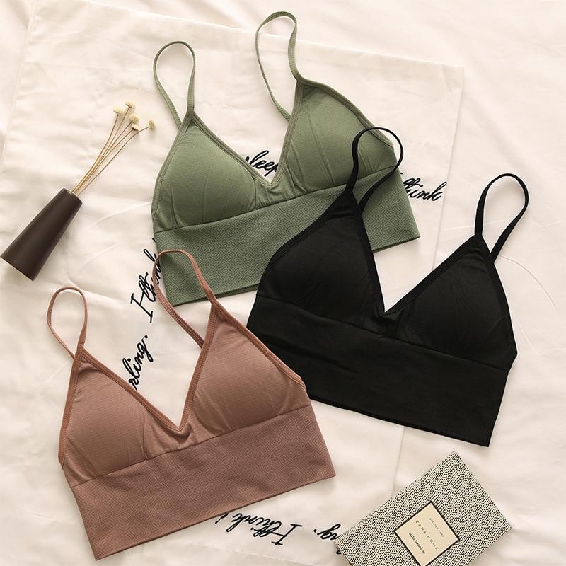 2020 Push Up Padded Bras For Women V Neck Backless Ladies Brassiere Adjustable Shoulder Strap Female Solid Underwear Lingerie