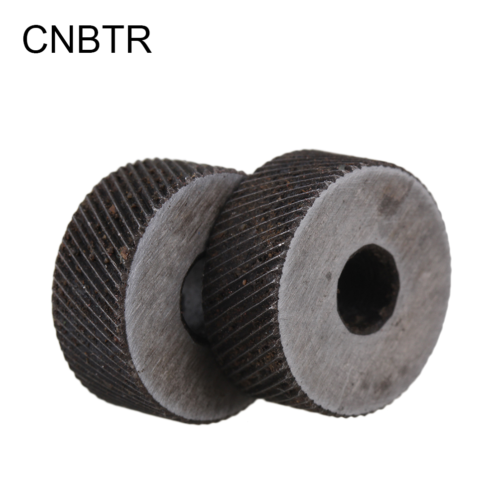 CNBTR 2PCS 0.8mm Pitch Diagonal Coarse 19mm OD Steel Knurling Wheel Tool Roller Tool