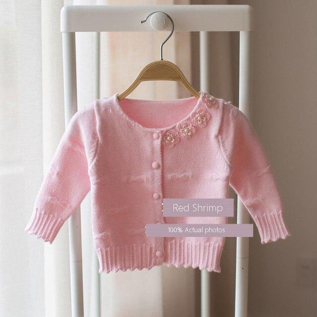 d4d72519e4cc Cardigan Knit Baby Sweater Coat Girl Casaco Malha Menina 0 Size Baby ...