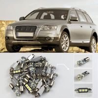 13x For S8 D3 2002 2009 White LED Car Dome Map Reading Lights Interior Package