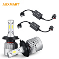 72w/pair H4 H13 Hi-lo Beam COB Chips 8000lm Car LED Headlight Bulb H7 9005 HB3 9006 HB4 H11 H8 H9 6500k Lamp Free Error Canbus