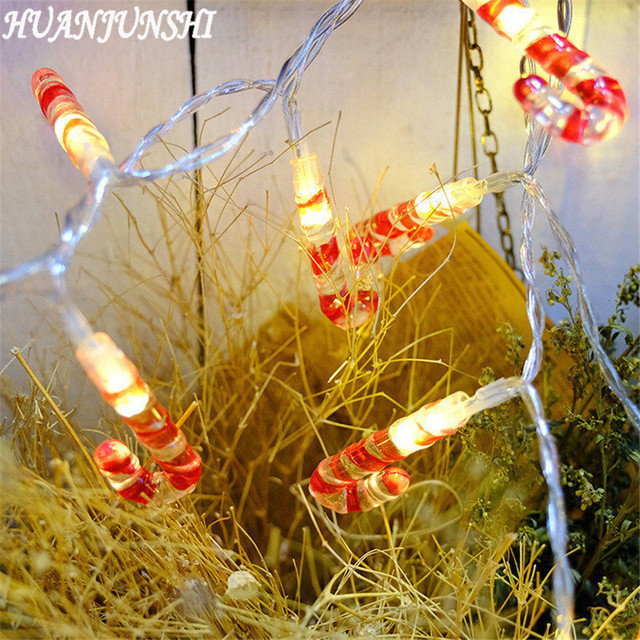 Huanjunshi 2m 20led Candy Cane Shape Led String Lights Outdoor