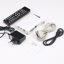 In stock! 1set Analog TV Box LCD/CRT VGA/AV Stick Tuner Box View Receiver Converter Free Shipping Newest