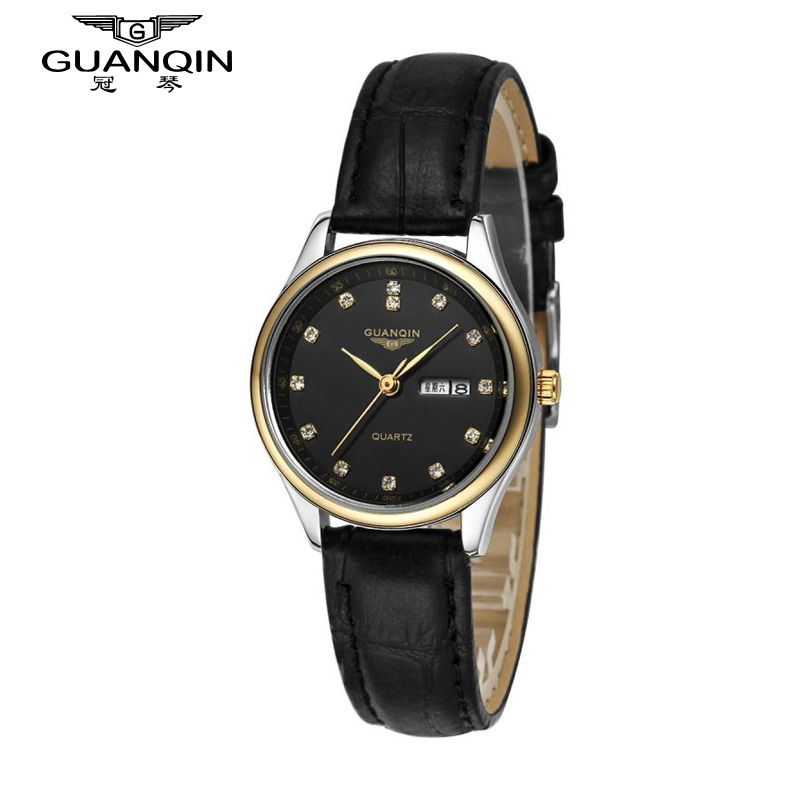 ФОТО Original GUANQIN Women Watch Luxury Brand Women Diamond Quartz Watches Ladies Waterproof Sapphire Cheap Watches Montre Femme