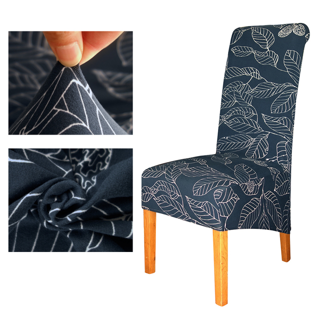 Europe Style XL Size Long Back Printing Chair Cover Europe Style Chair  Covers Dining Hotel Party