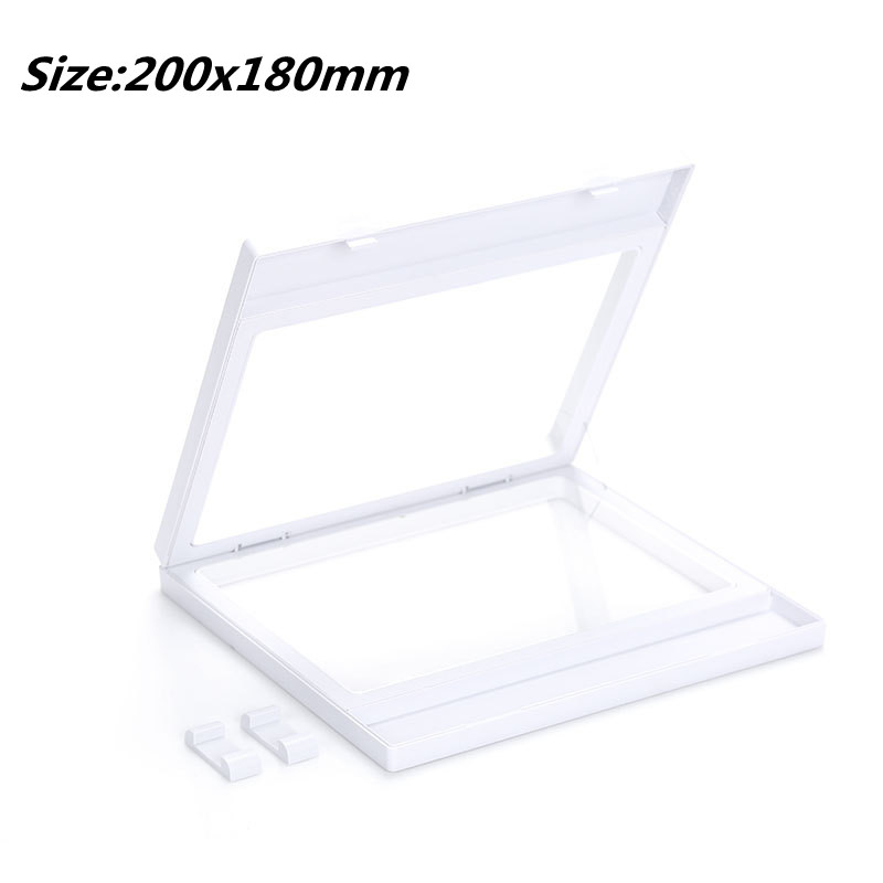 200*180MM PET Membrane Jewelry Ring Pendant Display Stand Holder Bague Packaging Box Protect Jewelery Floating Presentation Case