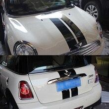 Medio Líneas Paralelas Campana + Tronco Pegatinas de Coches Y Calcomanías Para BMW MINI Cooper S R56 Hatchback 2007-2014 Car Styling Accesorios