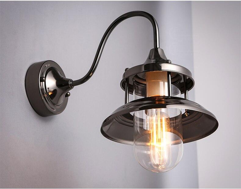 Applique da parete in ferro battuto per esterno lampadari per