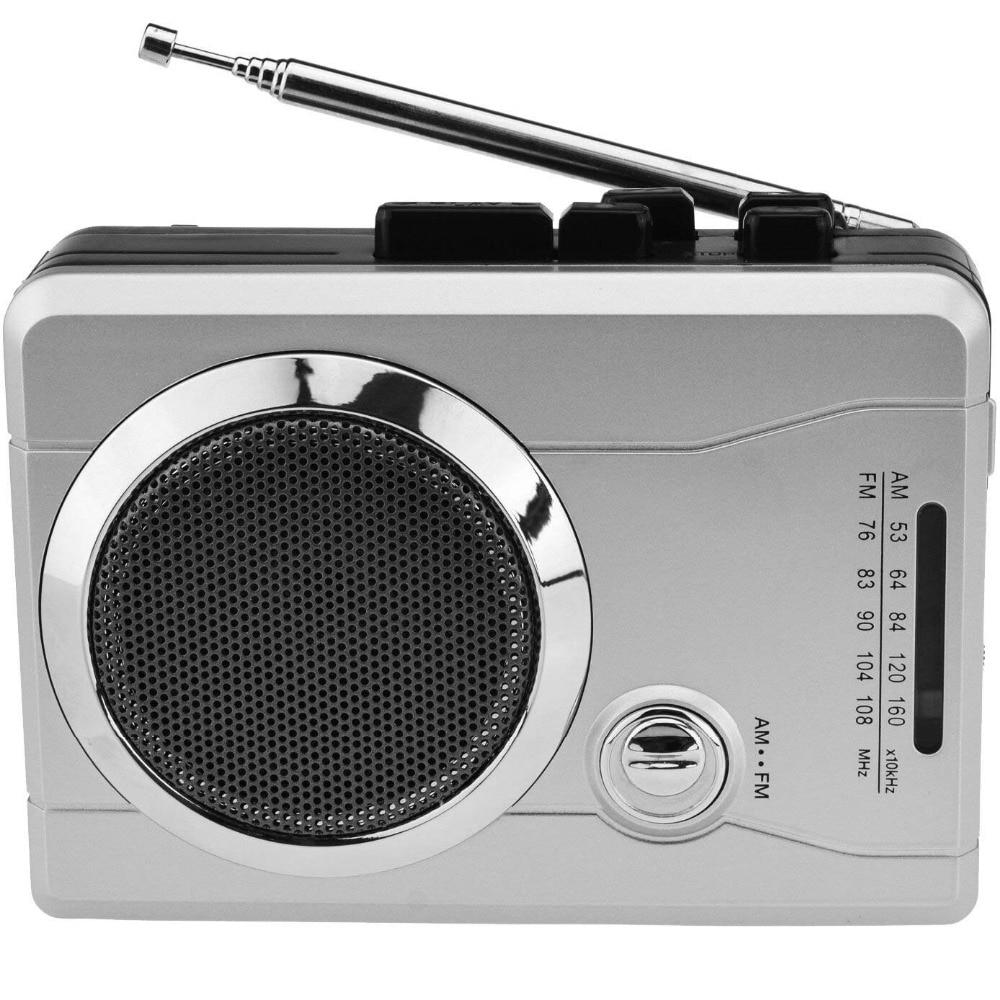 AM/FM Pocket Radio Cassette Player, Portable Personal Voice Audio Cassette Recorder Cassette Walkman Player Built-in Speaker