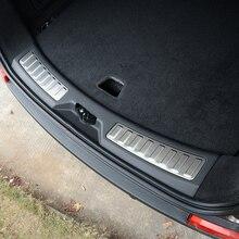 Для Land Rover Discovery Спорт 2015-2017 Нержавеющаясталь автомобиль сзади внутри дверь бампер протектор Порог скребок отделка автомобиля стиль