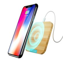 Wofalo Qi wireless charger for iPhone X/8 Visible Fast Wireless Charging for Samsung Galaxy S9/S9+ S8 Note 8 Xiaomi Huawei(China)