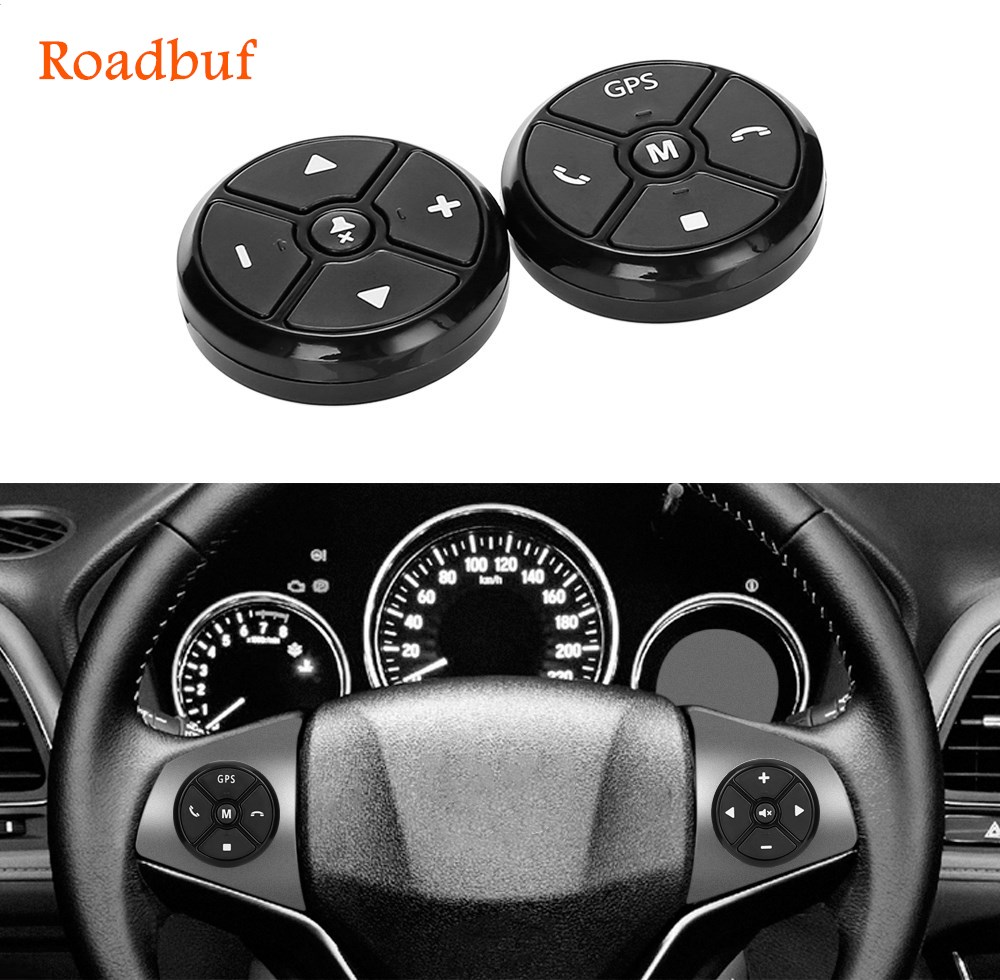 Universal Auto Lenkrad Control Key Music Drahtlose DVD GPS Navigation Auto Lenkrad Radio Fernbedienung Tasten Schwarz