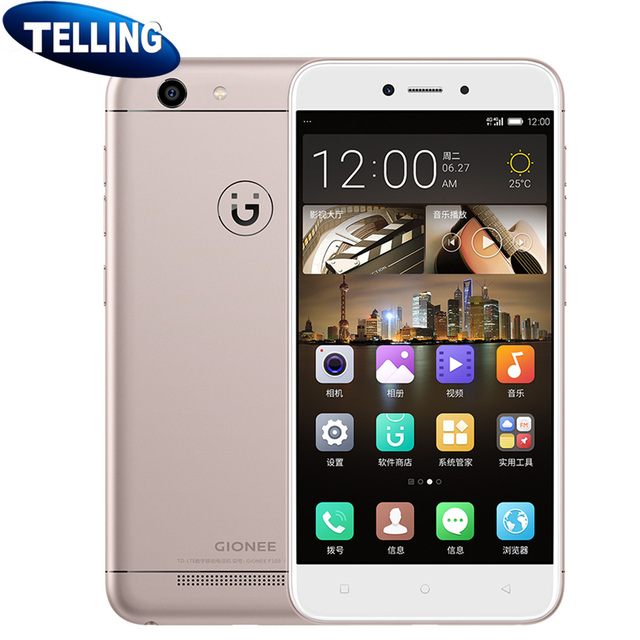 US $109 99 |Global Rom Original Gionee F109L Mobile Phone Android 7 0 Quad  Core 3G RAM 16G ROM 8MP 5
