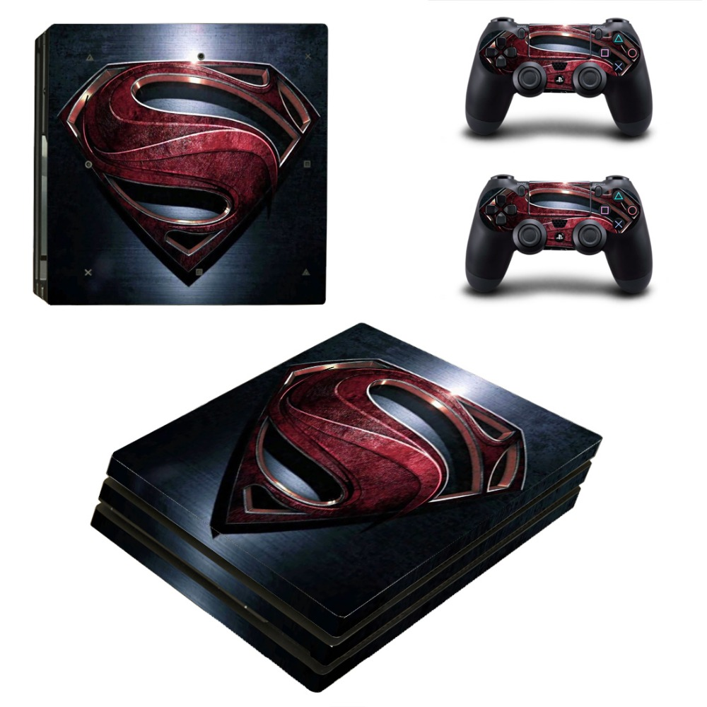 Super Hero PS4 Pro Sticker Vinyl Decal Controller & Console Skin for Sony Playstation 4 PRO Stickers