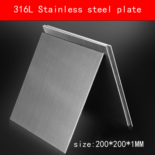 316L Stainless Steel plate size 1*200*200mm metal Sheet Brushed surface