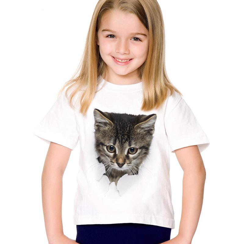 HTB1oBbdSFXXXXaJaXXXq6xXFXXXw - 2017 fashion summer cute children brand clothing for kids girl short sleeve print 3d cat t shirts tops baby clothes