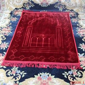Image 5 - גדול לעבות גדול אסלאמי מוסלמי תפילת מחצלת סאלאט Musallah תפילת שטיח Tapis שטיח Tapete Banheiro האסלאמי מחצלת המכירה 80*125cm