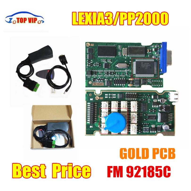 TOP Lexia3 Diagbox Firmware 921581C GoldenPCB lexia PP2000 V48/V25 Lexia3 Outils De Diagnostic Pour Ci-troen P-eugeot Garantie