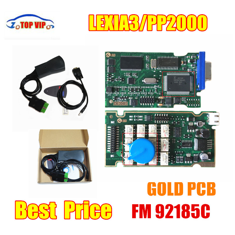 TOP Lexia3 Diagbox Firmware 921581C GoldenPCB lexia PP2000 Diagbox 7,83 Lexia3 Diagnose Werkzeuge Für Ci-troen P-eugeot garantie