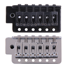Black/Silver New Replacement Standard Tremolo Bridge Set for Strat Electric Guitar Parts & Accessories