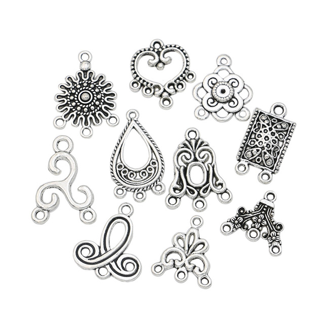 Mixed connector charms antique silver plated pendants for jewelry mixed connector charms antique silver plated pendants for jewelry making accessories craft diy handmade jewelry findings aloadofball Gallery