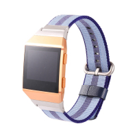 LANDFOX New Release Sports Royal Woven Nylon Bracelet Strap Band For Fitbit Ionic Needle Buckle