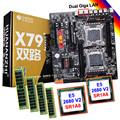 HUANAN ZHI bijgewerkt dual X79 Pro moederbord met M.2 SSD slot korting moederbord CPU Intel Xeon E5 2680 V2 RAM 128G (4*32G)