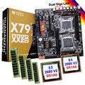 HUANAN ZHI updated dual X79 Pro motherboard with M.2 SSD slot discount motherboard CPU Intel Xeon E5 2680 V2 RAM 128G(4*32G)