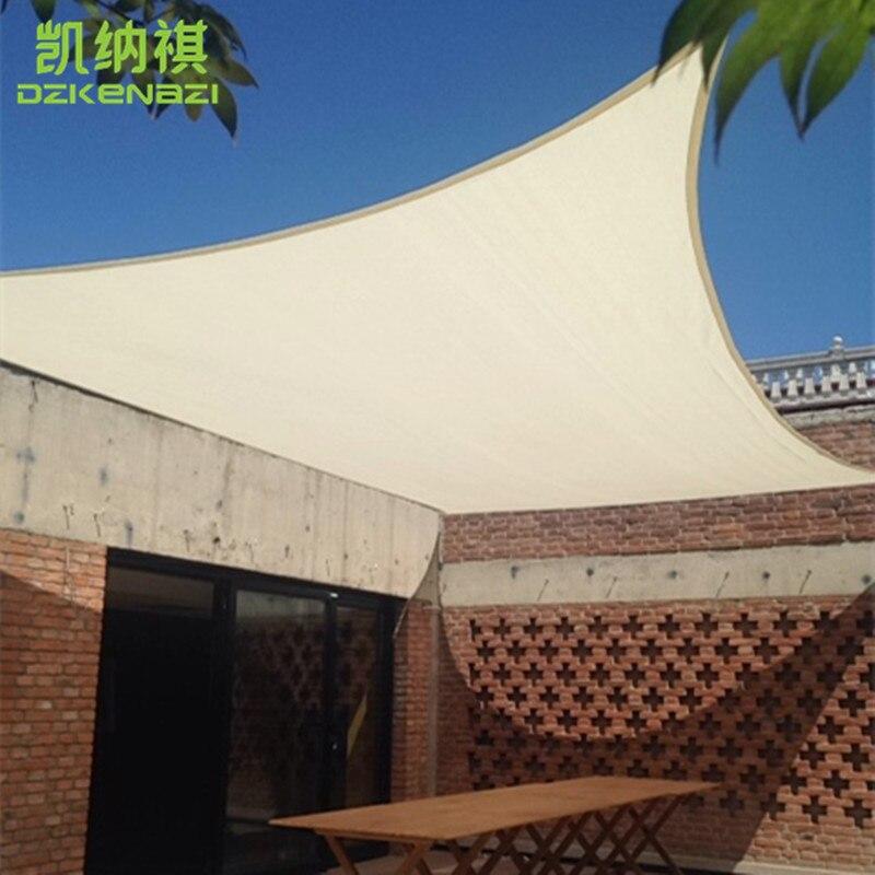 4x6 M/PCS PU Waterdichte stof Zon Shade Sail gebruikt als tuin netto polyester shades luifel-in Zonnezeil & netten van Huis & Tuin op  Groep 1
