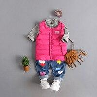 Autumn&winter children's girls&boys simple design Jackets cotton warm kids vest children outerwear waistcoat