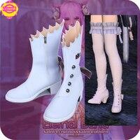 Final Fantasy 14 FF14 BRANCO Sapatos de Casamento Botas Halloween Cospaly Sapatos Todos Os Tamanhos