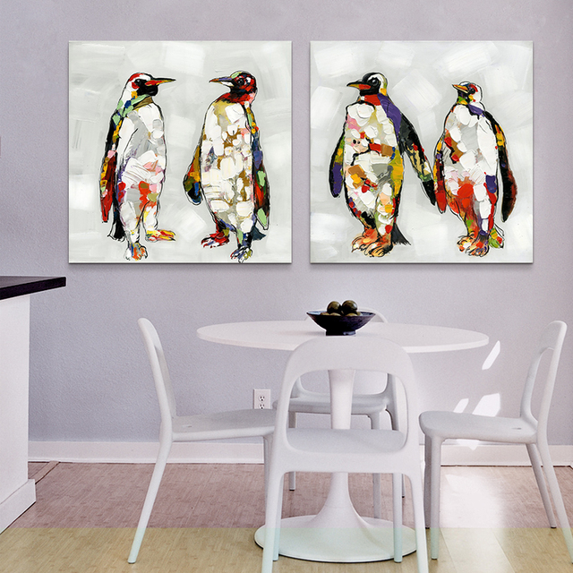 ARTRYST Penguin Canvas Art Print Poster, Wall Pictures for Home ...