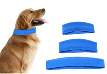 Beishuo new Blue Dog Cooling Collars Safe Gel Material Pet Summer Self Cooling Neck Collar For Small Medium Large Dogs 3 Size Ошейник
