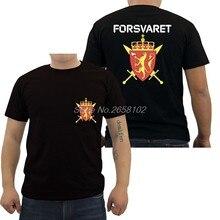 Moda Novo Norueguês Noruega Forsvaret Das Forças Especiais Do Exército  Preto T Shirt Dos Homens do Algodão Camiseta Harajuku Str.. 429ac9dfe4b41