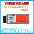 [Vxdiag distribuidor] más nuevo! vxdiag vcx nano para ford/mazda 2 en 1 con ids v100 v98 mejor que el vcm ii para ford envío gratis