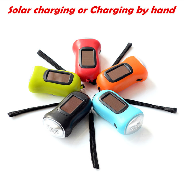 Mini Solar camping Flashlight lamp LED torch for traveling  multi-function emergency lights Solar Power Rechargeable