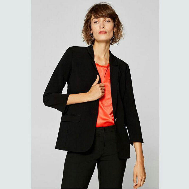 Custom Made Black Women Tuxedos Notched Lapel Suits For Women One Button Business Women Suits Jacket+Pants