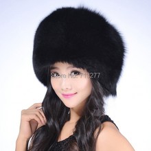 Faux Fox Fur Hat RACCOON Winter Warm Round Top Cap Women Russian Ushanka Hat Cossack Cap Outdoor Casual Beanies Women Winter Hat