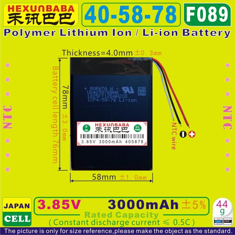 Polymer Lithium-ion/li-ion Batterie Für Tablet Pc 405878 3,7 V 3000 Mah 3,8 V Power Bank; Handy sony Zelle f089 3,85 V