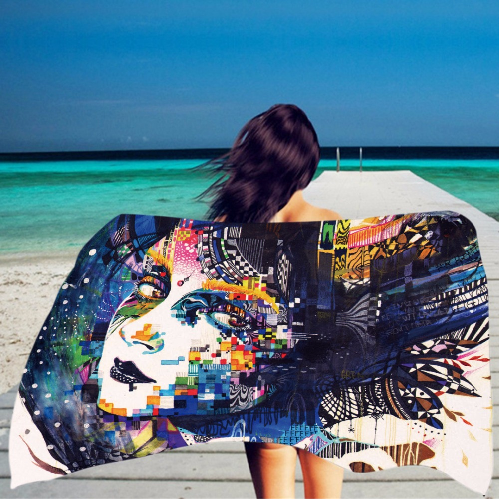HBZGTLAD 150*100cm Skull head Beach Towel Throw Microfiber Adults ...