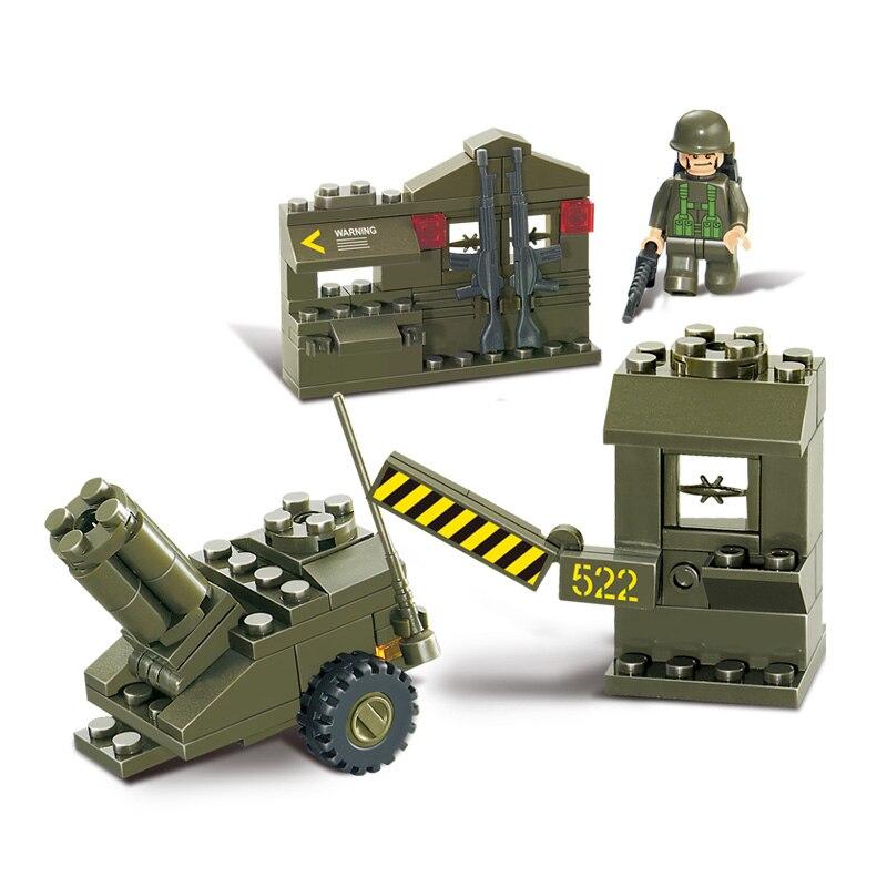 Sluban Model Building Compatible lego Lego B0295 93pcs Model Building Kits Classic Toys Hobbies Military Supply Depot